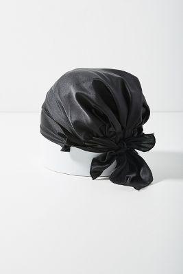 Satin Sleep Cap  -    BLACK
