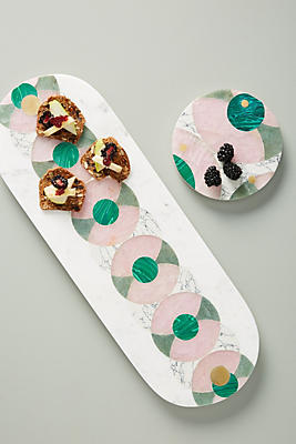 Slide View: 3: Catalina Marble Serving Board