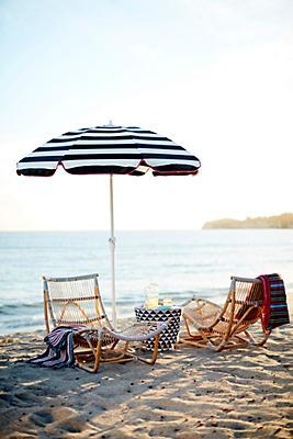 Slide View: 4: Cabana Outdoor Umbrella
