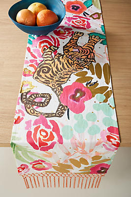 Slide View: 1: Jungle Tiger Table Runner