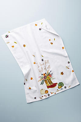Slide View: 1: I Love Fall Best of All Dish Towel