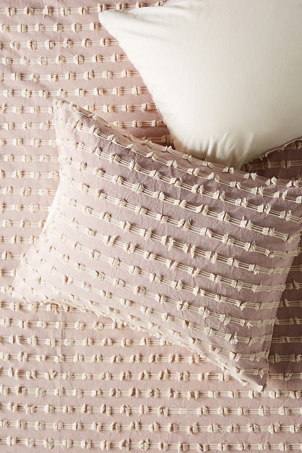 Textured Mareika Pillowcases - Purple, Size Std Shams