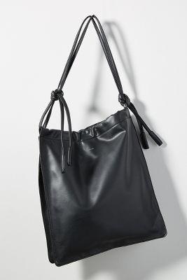 Martina Slouchy Tote Bag  -    BLACK