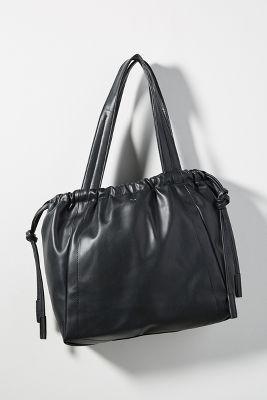 Ewan Drawstring Tote Bag  -    BLACK