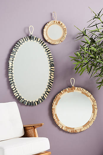 Size Small Round Decorative Mirrors Vintage Mirrors Anthropologie