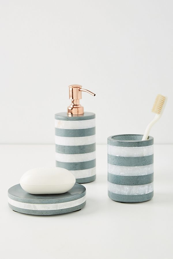 Slide View: 7: Striped Stone Bath Collection