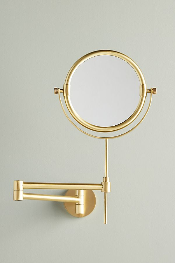 Slide View: 1: Wall Mounted Makeup Mirror