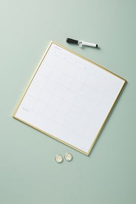 Maude Calendar Dry Erase Board by Anthropologie