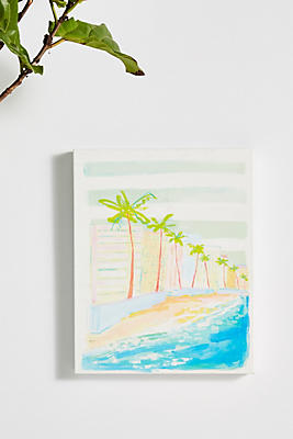 Slide View: 1: Palm Trees Canvas Wall Art