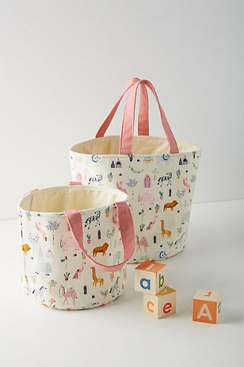 Paper Cloth Safari Storage Bin