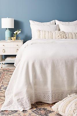 Slide View: 1: Pom Pom At Home Layla Linen Duvet Cover