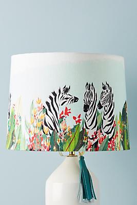 Slide View: 1: Watercolor Safari Lamp Shade