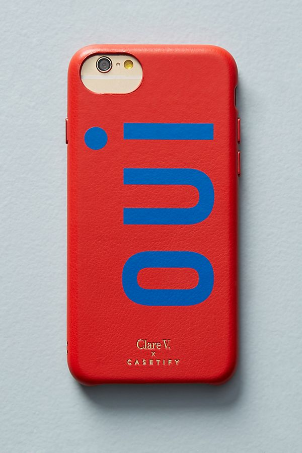 Slide View: 1: Oui Leather iPhone Case
