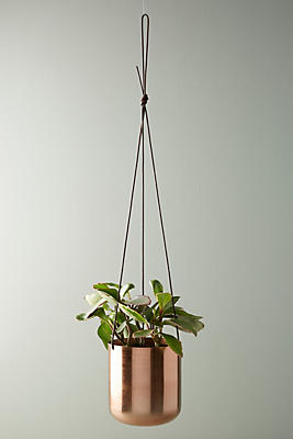 Slide View: 1: Copper Hanging Planter