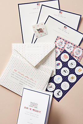 Slide View: 1: Write to the White House Stationery Set