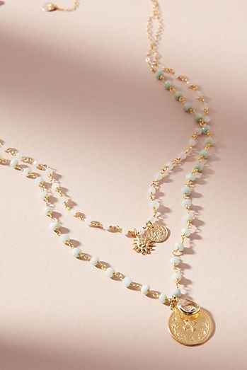 Delicate necklaces for women anthropologie duo charm layered necklace aloadofball Images