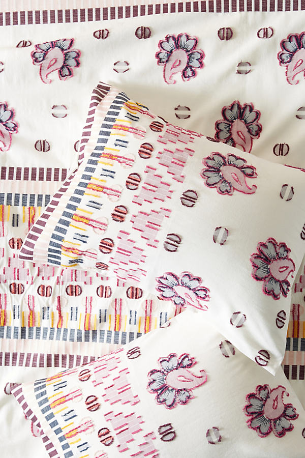 SUNO for Anthropologie Woven Malindi Pillowcases - Assorted, Size Std Shams