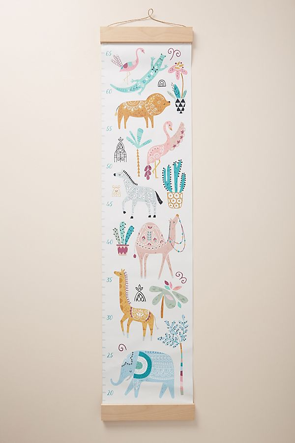 Paper Cloth Safari Growth Chart Anthropologie