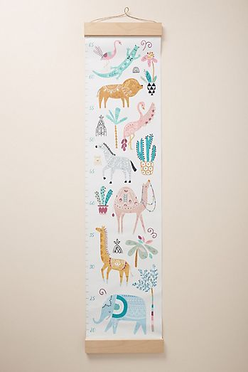 Kids shop toys gifts bedding books anthropologie paper cloth safari growth chart negle Images