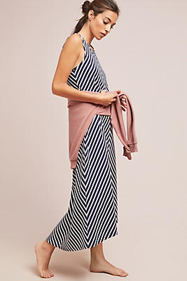 Slide View: 1: Chevron Knit Maxi Dress