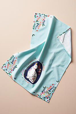 Slide View: 1: Queen Kitty Dish Towel