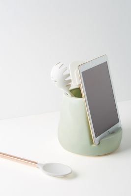 Kitchen Tablet Dock + Canister by Stak Ceramics