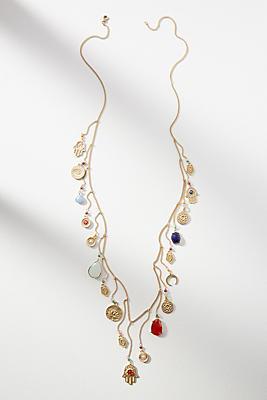 Anthropologie Hamsa Hand Charm Necklace 3fl7Mx2W