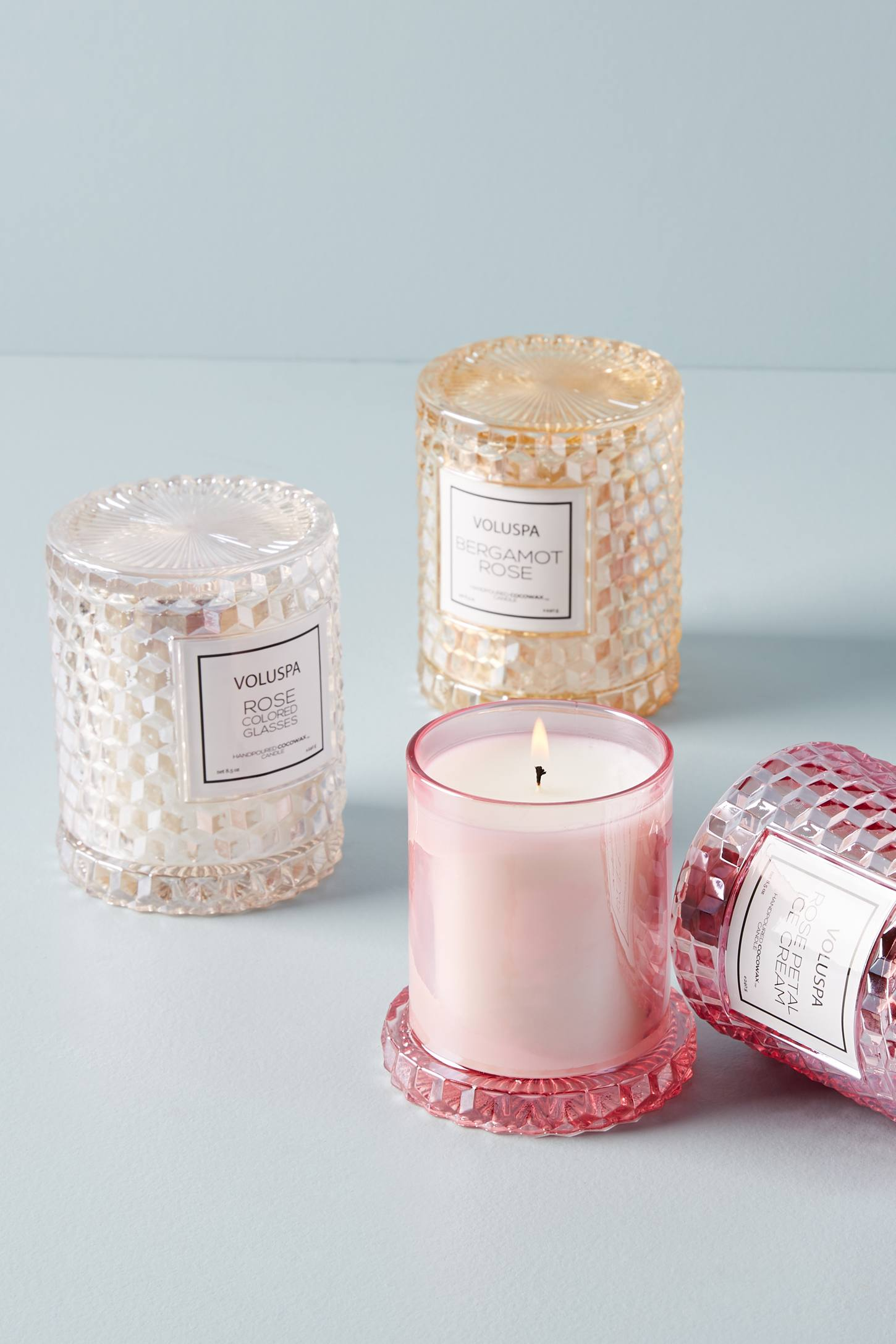 Voluspa Rose Cloche Candle | Anthropologie