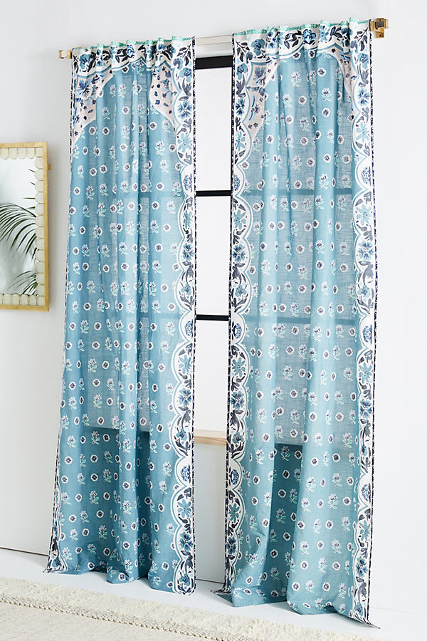 Livia Curtain - Blue, Size 50 X 84