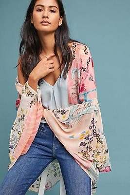 Slide View: 1: Jordin Floral Kimono