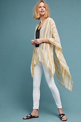 Slide View: 1: Sunshine Striped Kimono