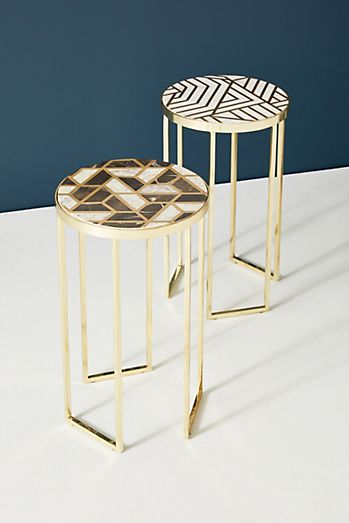 optical inlay side table - Unique Side Tables