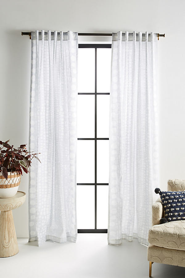 Olearia Curtain - Grey, Size 108