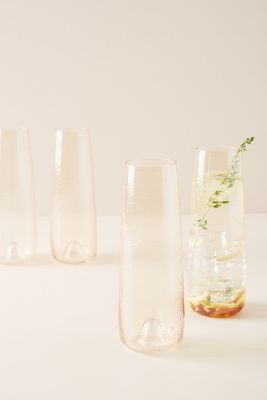 Gwynn Set Of 4 Stemless Flutes by Anthropologie