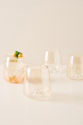 Slide View: 1: Gwynn Stemless Wine Glasses, Set of 4