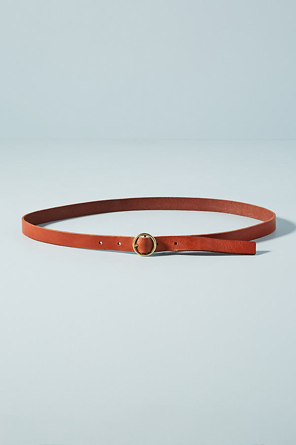 Thea Skinny Belt - Brown, Size L