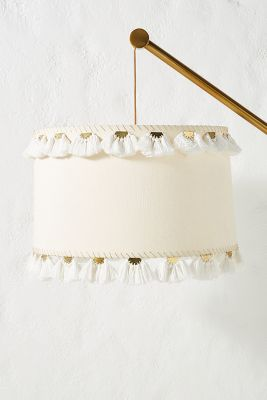 Embellished Half Moon Lamp Shade by Anthropologie
