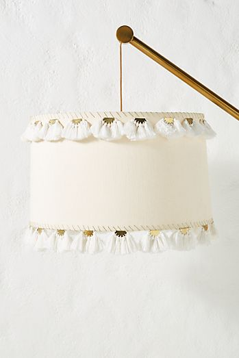 embellished half moon lamp shade - Unique Lamp Shades