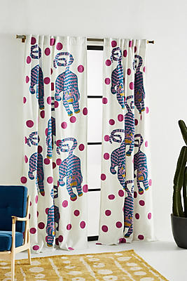 Slide View: 1: Embroidered Annika Curtain