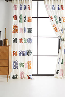 Slide View: 1: Embroidered Nico Curtain