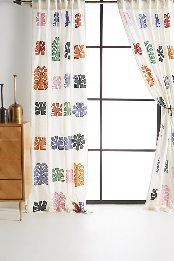Embroidered Nico Curtain - Assorted, Size 50 X 84