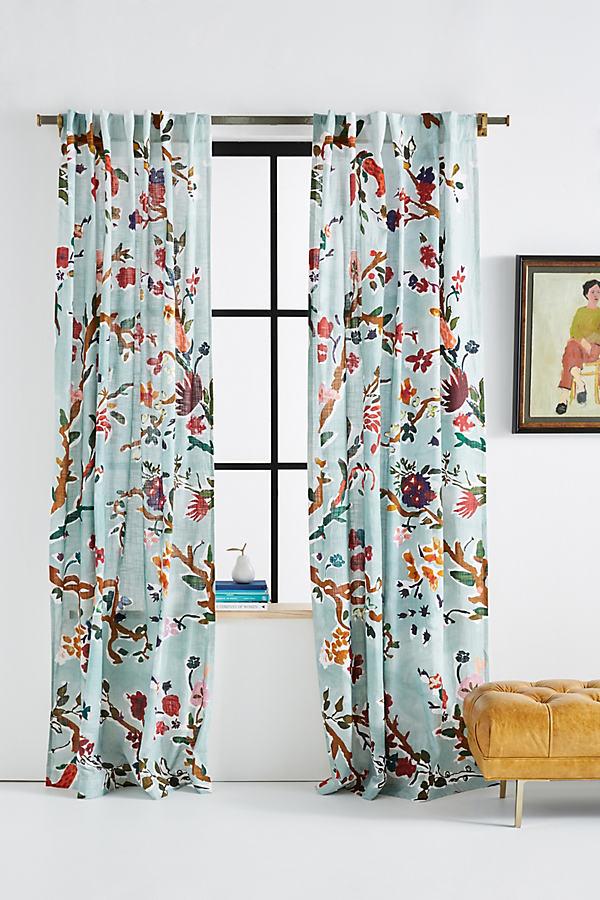 Cecilia Curtain - Green, Size 50 X 84