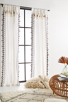 Slide View: 1: Embroidered Meramec Curtain