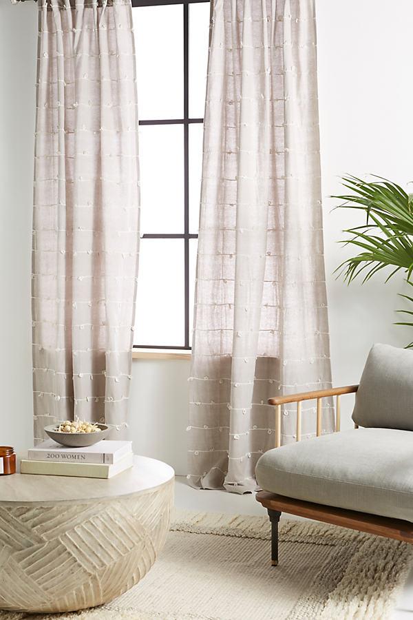 Embellished Isaac Curtain - Grey, Size 108