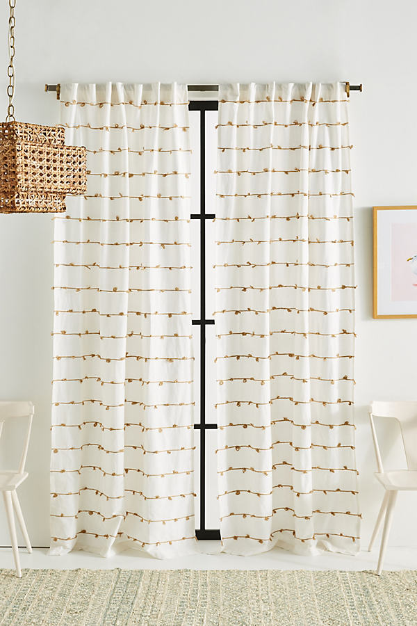 """Embellished Isaac Curtain - White, Size 108"""""""
