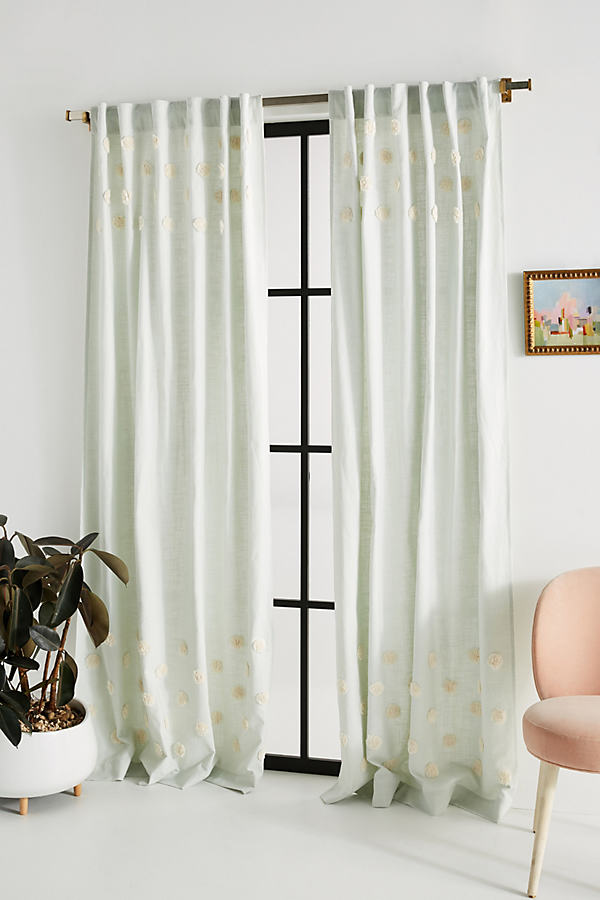 """Tufted Patricia Curtain - Grey, Size 108"""""""