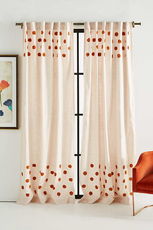 Tufted Patricia Curtain - Yellow, Size 108""
