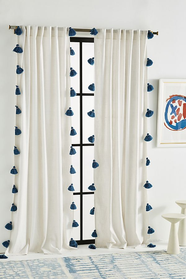 Pom Tassel Curtain | Anthropologie