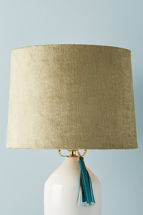 Solid Velvet Lampshade - Grey, Size S