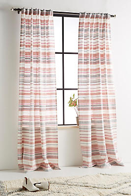 Slide View: 1: Woven Cora Curtain